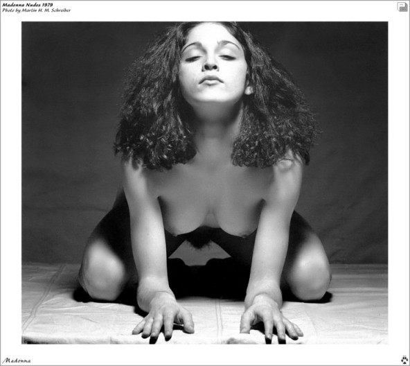 madonna on all fours